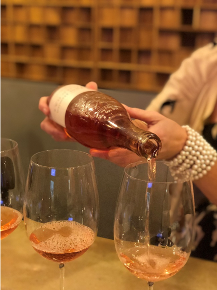 Emily has mastered the art of even pours to make sure everyone shares in the deliciousness.